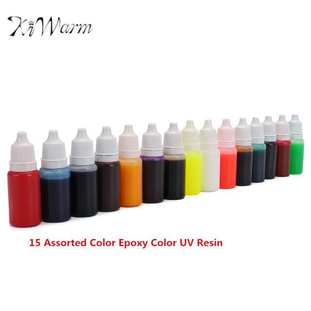 KiWarm 15Pcs 15 Colors 10ml Top Grade Epoxy Resin Pigment UV Resin ...
