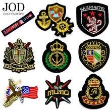 JOD – patchs brodés thermoadhésifs de la couronne impériale, badges d'équipe, autocollants de Jersey, Logos personnalisés