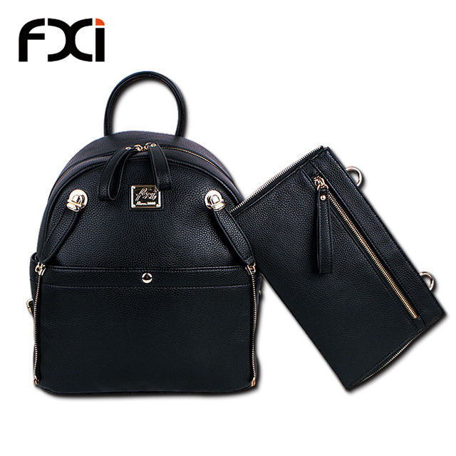 2015 fashion Big black backpacks and purse