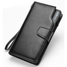 Hot Selling! New Design 3 fold Men Wallets Long Design Business Men's Clutch Bag Wallet High Capatical Coin Purse Holder Bags