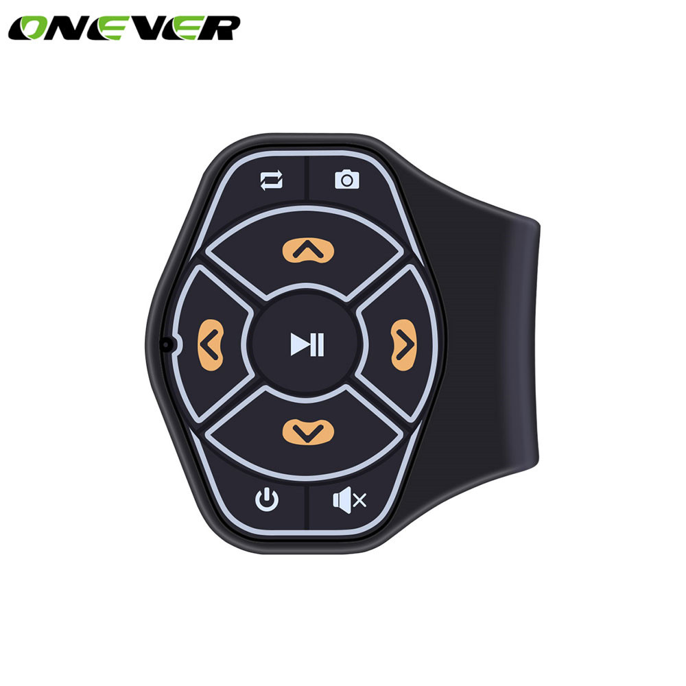 Car Steering Wheel Wireless Bluetooth Remote Control Multi-function Bluetooth Media Button For MP3 Music Play For Android IOS