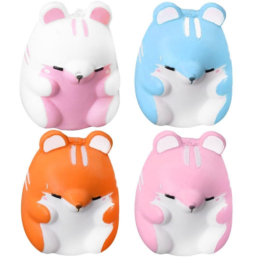 Nette Kawaii Weichen Squishy Schönheit Bunte Simulation Hamster Spielzeug Langsam Steigenden Anti Stress Angst Dekoration Kinder Geschenke Puppe Bestellungen Sind Willkommen.