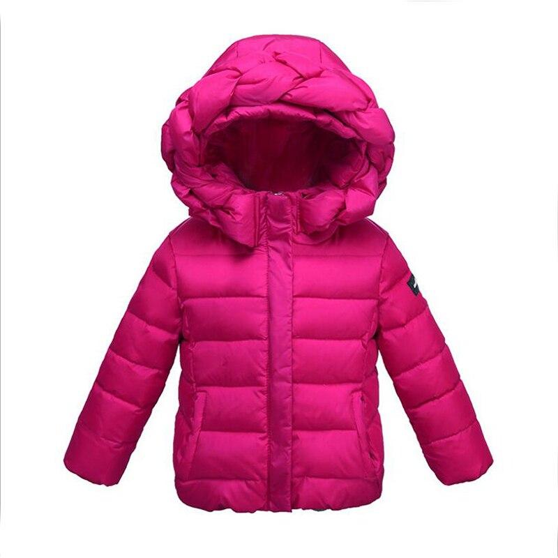 2017 nouveau arrivé enfants couleur bonbon à capuche vers le bas manteau pour garçons veste hiver canard vers le bas plume veste d'extérieur