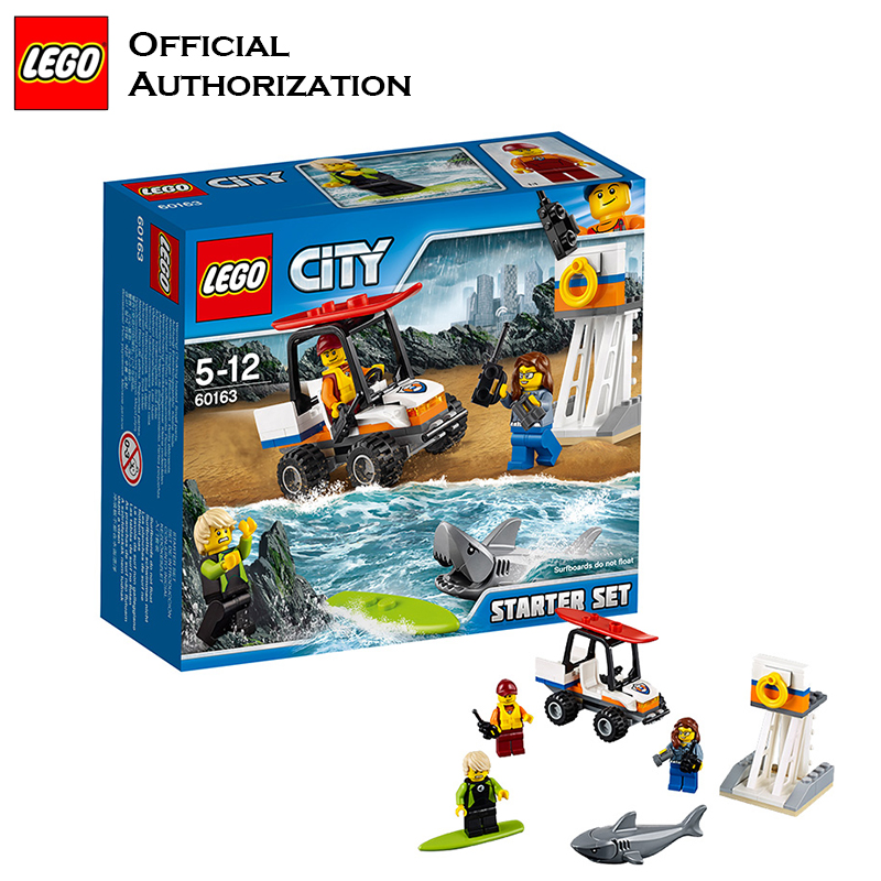 Original Lego Starter Set Coastguard Role Play Building Blocks Surfing Children Toy Compatible with lego backplane building block set compatible with lego bang bao fairy series kung fu fight inserted blocks toy mysterious dragon hegemony 6606