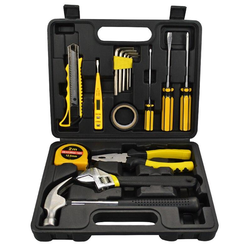 Бытовые инструменты набор Многофункциональный аппаратные toolbox обслуживания автомобиль ручной инструмент набор дрель