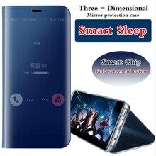 Роскошные Clear View зеркало Смарт флип чехол для телефона Samsung Galaxy J5 премьер On5/J7 премьер On7 мобильный Аксессуары из искусственной кожи