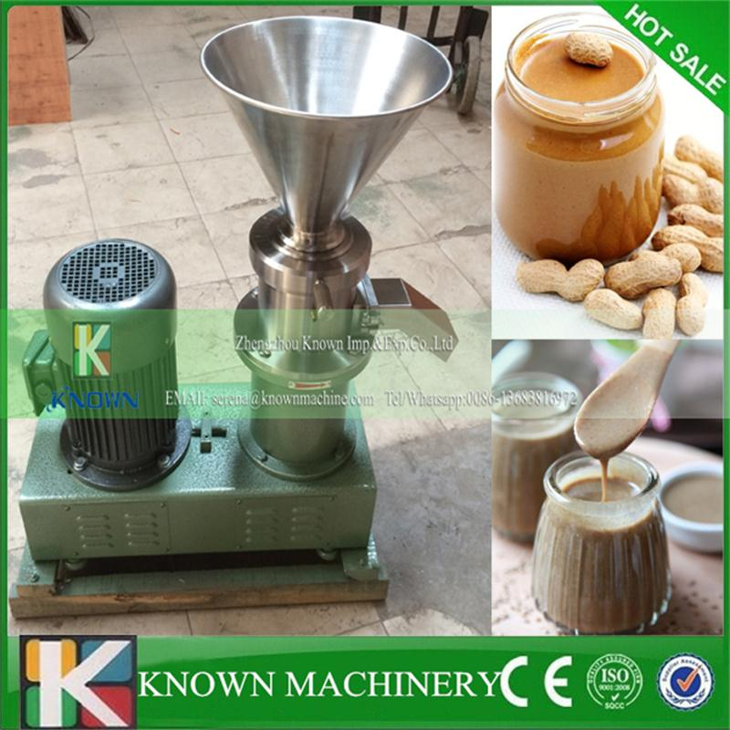 Best quality more than 90% homogeneity, peanut butter sesame paste chilli sauce colloid mill gringding machine hot sale 80 colloid mill peanut butter making machine bitumen sesame paste grinder machine