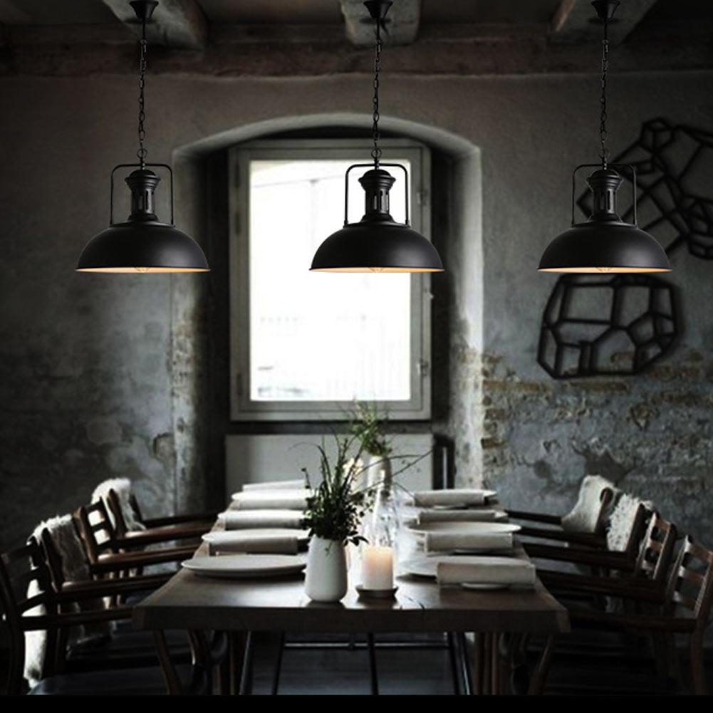 Loft Industrial Warehouse Pendant Lights American Country Lamps Vintage Lighting for Restaurant/Bedroom Home Decoration Black