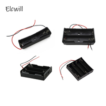 1x 2x 3x 4x 18650 Battery Storage Box Case DIY Container with Wire Lead Pin for 3.7V Batteries