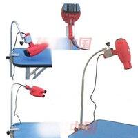 Animaux chien de bain beauté sèche-cheveux sèche-cheveux support de montage clip, 360 degrés ajusté tuyau en métal, support en acier Inoxydable