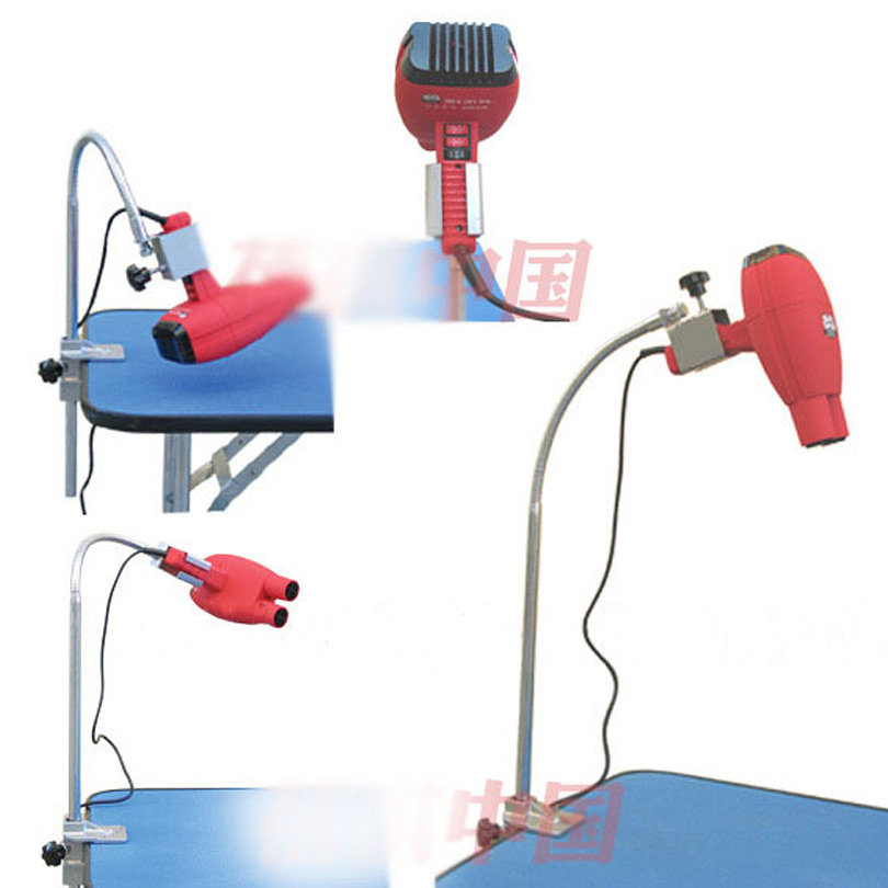 Haustierhundebadeschönheits-Haartrockner-Montageklammerclip, 360-Grad-justierter Metallschlauch, Edelstahlhalter