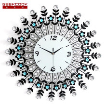 European Pastoral Flower Wall Clock Modern Design Living Room And Bedroom Mute Wall Watch Mute Clock Wall Home Decorative