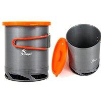 Conseil Feu D'érable En Plein Air Portable Pliant Casseroles Échangeur de Chaleur Camping Pot Bouilloire Café Bouteille D'eau 1L FMC-XK6 190g