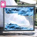 XXXG/ Home decorations glass quicksand creative flow landscape painting birthday gifts office living room 3D hourglass Decoratio