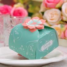 50pcs/lot Paper Flower Box Event Party Decoration Candy Engagement Wedding Boxes Guest Gift Mini