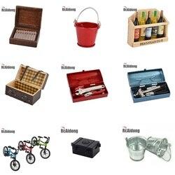 Hohe Qualität Mini Flasche/Zigarre Box/Stamm/Eimer/Bike/Werkzeug Box/Leder Stamm Simulation teile für RC Crawler Auto