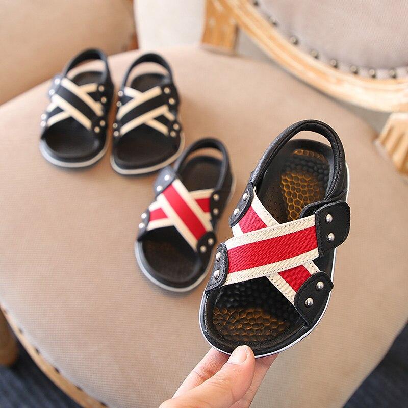 Zaizaile 2018 Summer Toddler Boy Black Shoe Moda infantil Soft Beach - Zapatos de niños