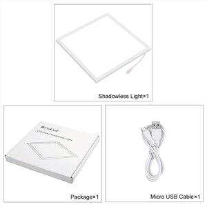 Image 5 - PULUZ מיני 22.5cm LED צילום צללים תחתון אור צל משלוח אור מנורת פנל Pad עבור 20 cm תמונה סטודיו תיבת lightboxs