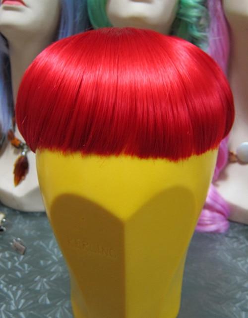colorful bang hair accessories pink anime cosplay hair colorful bob hair extension hair