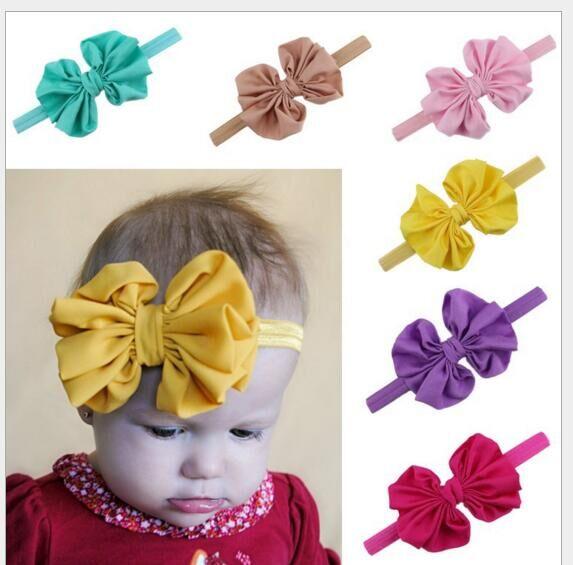 MengNa DIY Large Chiffon Bow Headband Bowknot Headbands Hair Bands Hair Ties Girls Hair Accessories 50pc/lot