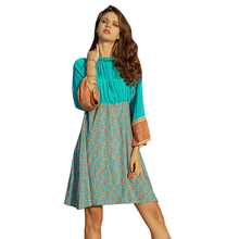 Hot new products 2019 spring and summer bohemian leisure beach holiday long sleeve stand collar dress