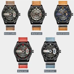 Image 5 - Relogio Masculino CURREN Watch Men Waterproof Calendar Sport Military Male Clock Top Brand Luxury 3D Dial Man Wristwatch 8301