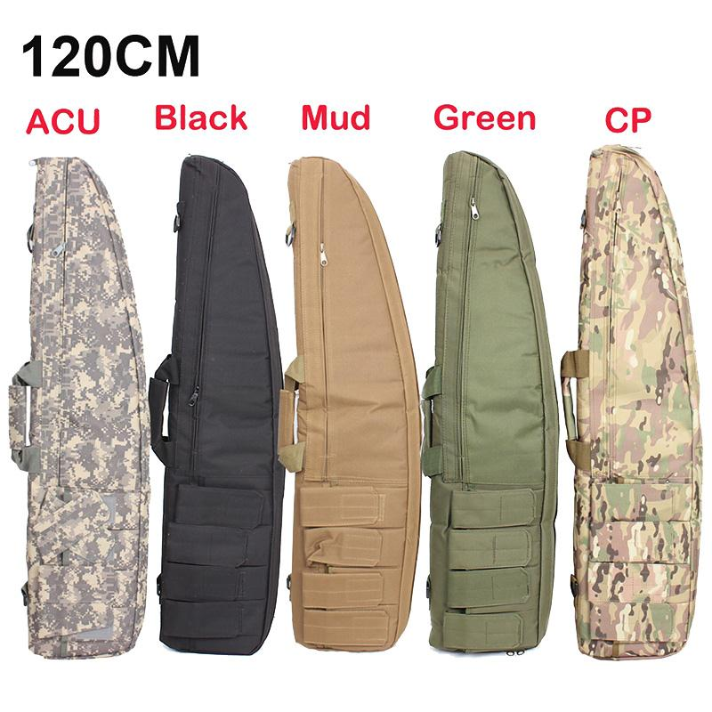 120cm Hunting Gun Rifle Bag Outdoor Tactical Carrying Bags Military Gun Case Shoulder Pouch For Airsoft Shooting Painting Games 47 tactical hunting padded rifle sniper gun sling carrying case black