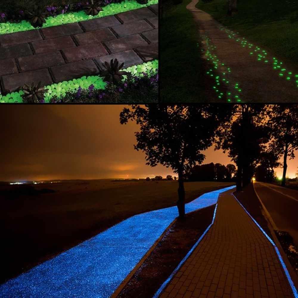50 sztuk/partia ogród Yard Decor świecące kamienie blask w ciemności otoczaki do ogrodu blask kamienie skały na chodniki ścieżki ogrodowe Patio trawnik