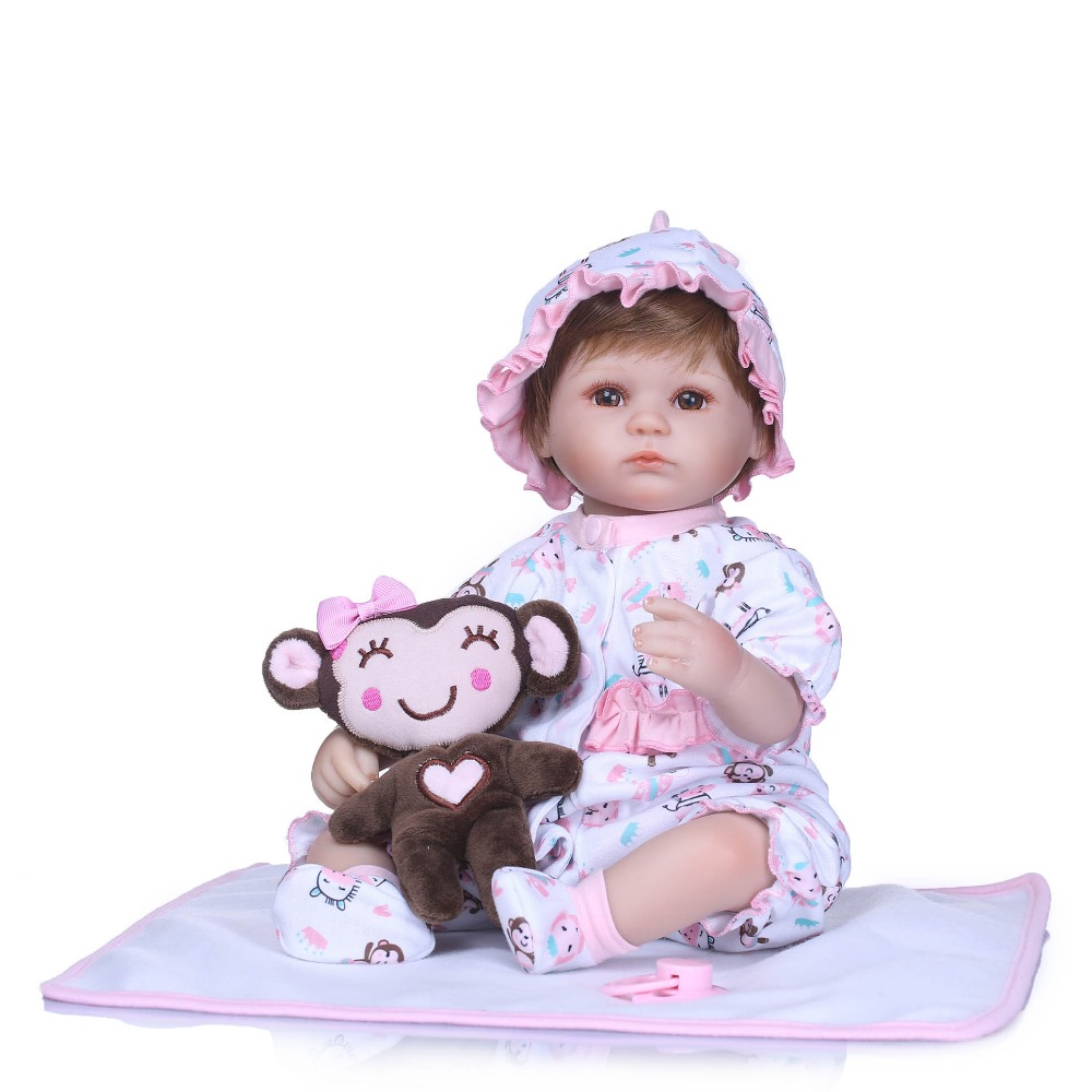 NPKCOLLECTION 40CM Reborn Baby Doll Realistic Soft Silicone Reborn Babies Girl Adorable Bebe Kids Brinquedos boneca Toy GiftsNPKCOLLECTION 40CM Reborn Baby Doll Realistic Soft Silicone Reborn Babies Girl Adorable Bebe Kids Brinquedos boneca Toy Gifts