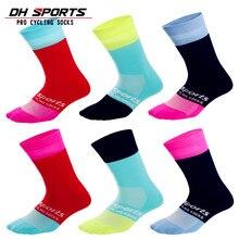 5 пар Спортивные высококачественные профессиональные носки для велоспорта мужские дорожные велосипедные брендовые гоночные велосипедные компрессионные длинные носки 19