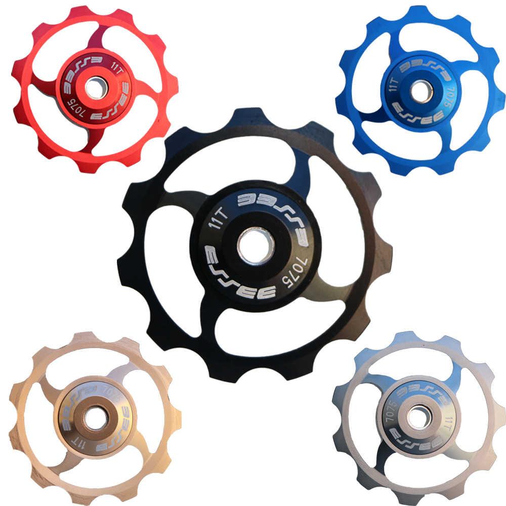 Vélo céramique roulement poulie arrière dérailleur 11 T route vélo Guide rouleau tendeur 4mm 5mm 6mm pour shimano sram Jockey roue vélo partie