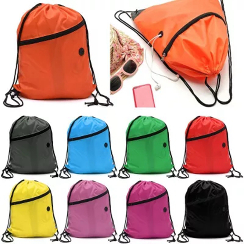 Mini Waterproof Nylon Shoe Bags Storage Gym Bags Drawstring Dust Backpacks Storage Pouch Outdoor Travel Duffle Sports Bags