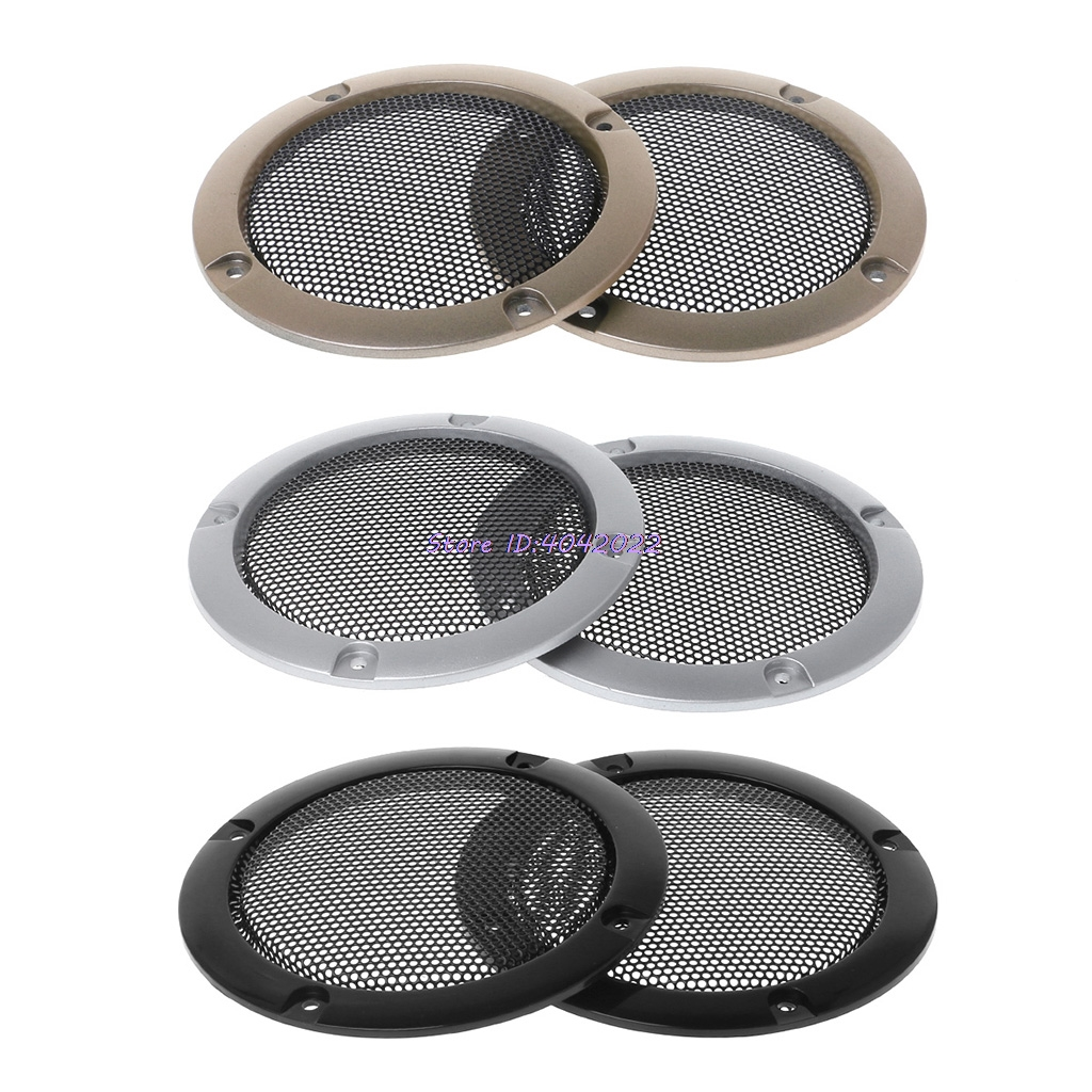 1pc 4-10inch Golden Circle Black Net Speaker Decorative Circle-protective Grill