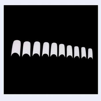 Good quality 500/pack DIY french fake nail tips natural fake nails shield sticker as manicure beauty nail art salon decoration