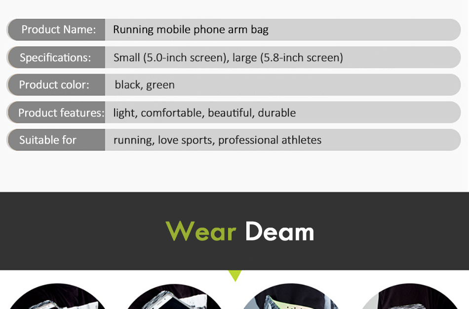 !ACCEZZ Sport Running Armbands Holder 4.75.8 inch For Oneplus 5 iPhone 7 6 8 Plus Xiaomi 6 Phone Pouch Gym Cover Arm Band Cases (4)