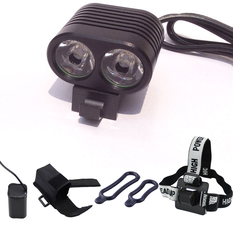 High Power Head Lamp 2 *CREE LED Bike Bicycle Front Headlamp L2 LED Headlight 18650 lithium Battery Pack lampe frontale 6000LM the new headlamp headlight glare cree xhp50 bicycle light headlight 18650 head lamp lampe bike light