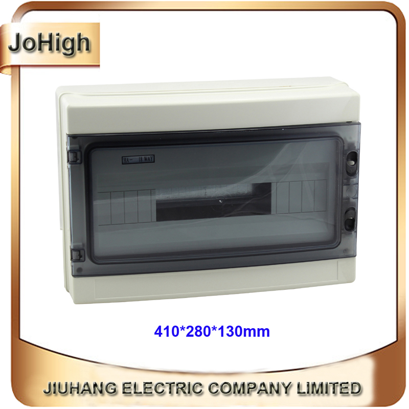 Top Quality PVC Cover ABS body IP66 Transparent Cover Waterproof Distribution Bbox 18 way Circuit breaker Box