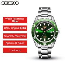 100% Original SEIKO 5  Mens Watch  Automatic Mechanical 10 Bar Water Resistant Sport watch SRPB94/91/89/93J1 Stainless Steel