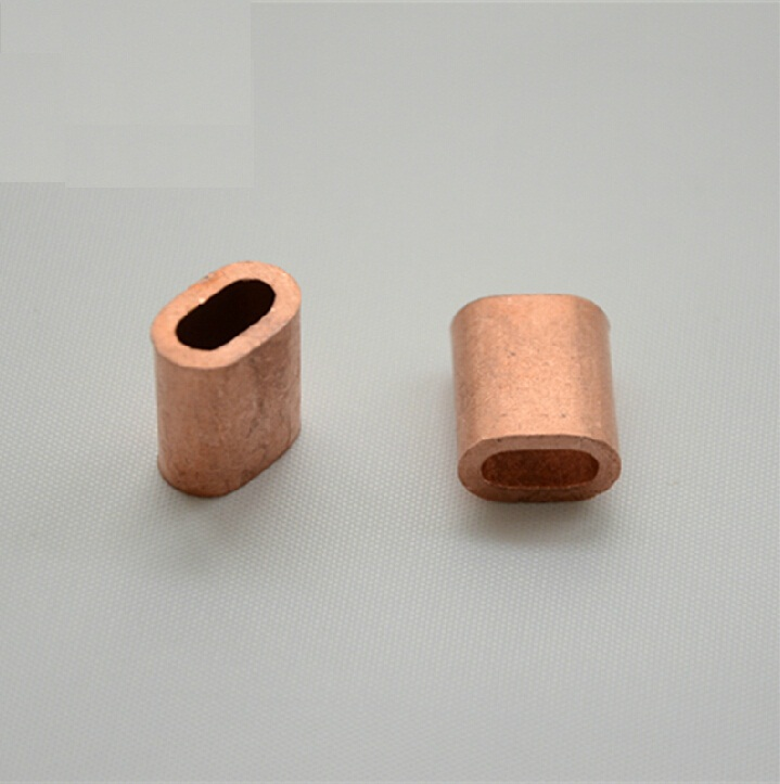 M2 2mm red copper brass ferrule sleeves single hole oval type wire ...