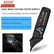 BSIDE AVD06 Non-contact Voltage Detector AC 12-1000V Test Pen Circuit Tester Power Socket Live Wire Check Dual Mode with 8 LED