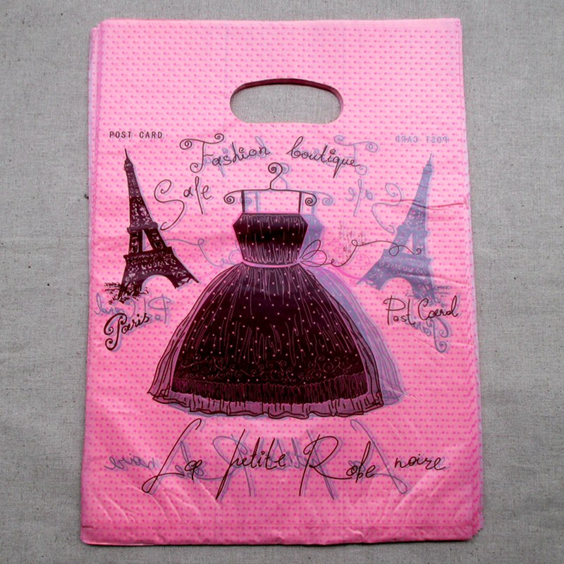 Hot 100pcs/lot 30*40cm Pretty skirt Pattern Plastic Gift <font><b>Bag</b></font> <font><b>Shopping</b></font> <font><b>Bag</b></font> Wholesale Lot free shipping 015040067