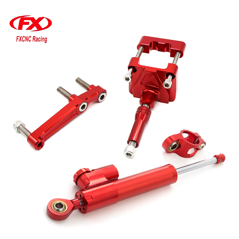 Adjustable Motorcycles Steering Stabilizer Damper Bracket Mount Kits For Kawasaki NINJA 250R EX250 2008 - 2012 2009 2010 2011