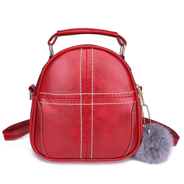7e2f3139a732 US $1000.0 |Fashion Women Solid Color Hairball Crossbody Bag Shoulder Bag  Hand Bag Tote Leather Handbag Ladies Hand Bags bolsa feminina-in Shoulder  ...