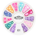 Candy Lover Nail Art Decorations Fruit Flower Slices 3D Polymer Clay Tiny Fimo Wheel DIY Nail Art Manicure 1 Pack Candy Lover