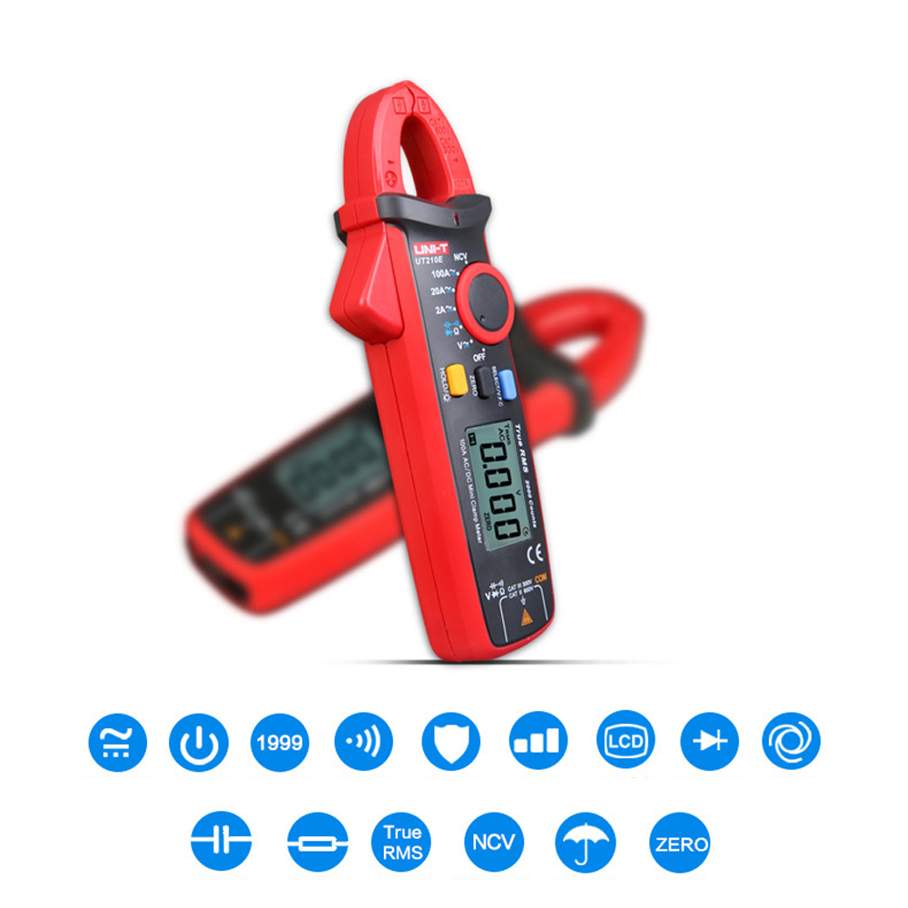 Mini Portable Handheld LCD Diaplay Digital AC DC Current Clamp Multimeter w Capacitance Tester Electronic Measuring