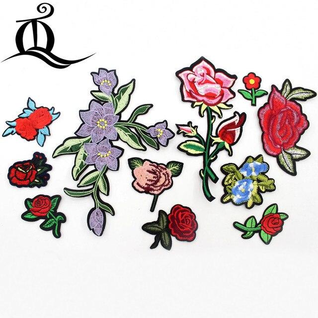 Unids 1 Pieza Parche De Dibujos Animados Mezcla De Flores Rosas Mini