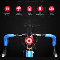 방수 MTB 자전거 안전 경고등 지능형 브레이크 유도 테일 램프 USB 충전식 미등 사이클링 후면 조명