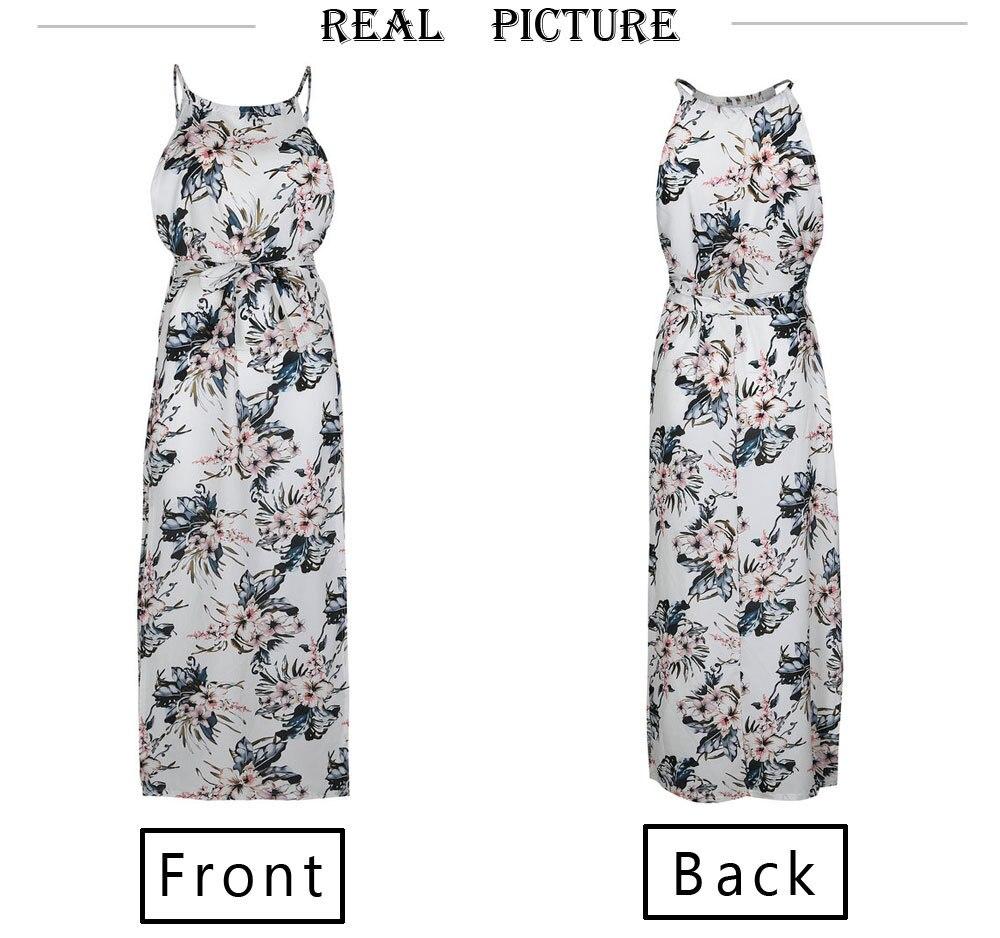 sleeveless boho dress