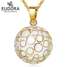 Eudora 22mm Gold Harmony Ball Pregnancy Chime Necklace Pendant Mexcian Bola Angel Caller Jewelry Gift N14NB296B