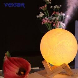 Wysokiej jakości 880ML ultradźwiękowy Air Moon USB nawilżacz Aroma dyfuzor olejków eterycznych dla domu generator pary USB Mist Maker z lampą LED